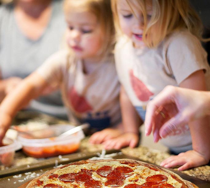 copiii si pizza